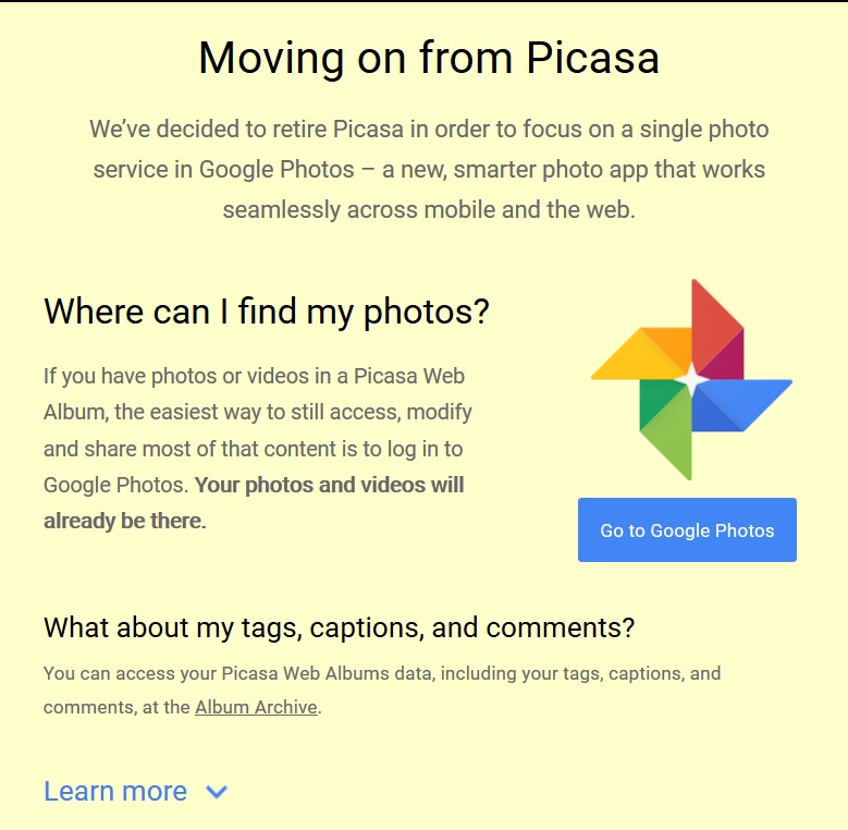 Picasa from Google user image